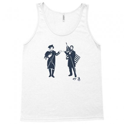 Fist Bump For Liberty Tank Top Designed By Monzart