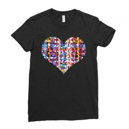 Heart Ladies Fitted T-shirt Designed By Bigdlab