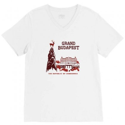 Grand Budapest Hotel V-neck Tee Designed By Monzart