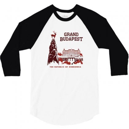 Grand Budapest Hotel 3/4 Sleeve Shirt Designed By Monzart