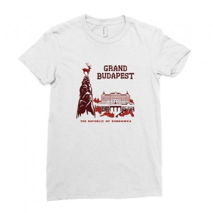 Grand Budapest Hotel Ladies Fitted T-shirt Designed By Monzart