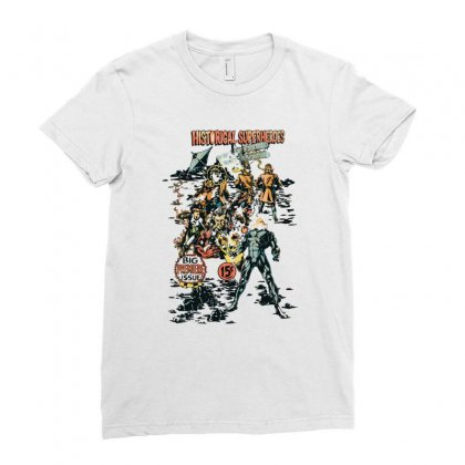 Historical Superheroes Ladies Fitted T-shirt Designed By Monzart