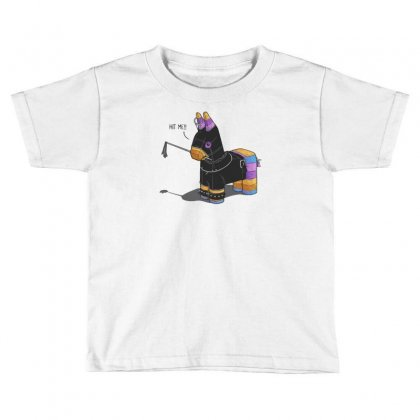 Hit Me Toddler T-shirt Designed By Monzart