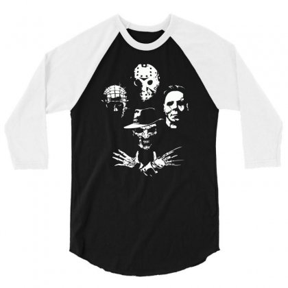 Horror Icons 3/4 Sleeve Shirt Designed By Monzart