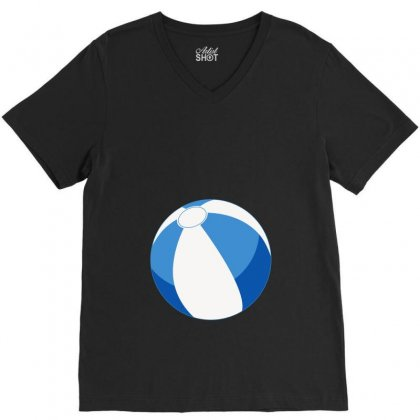 Blue Beachball Baby Boy V-neck Tee Designed By Ofutlu