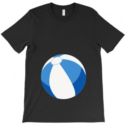 Blue Beachball Baby Boy T-shirt Designed By Ofutlu