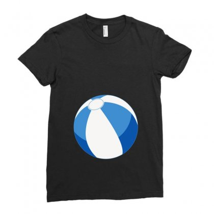 Blue Beachball Baby Boy Ladies Fitted T-shirt Designed By Ofutlu