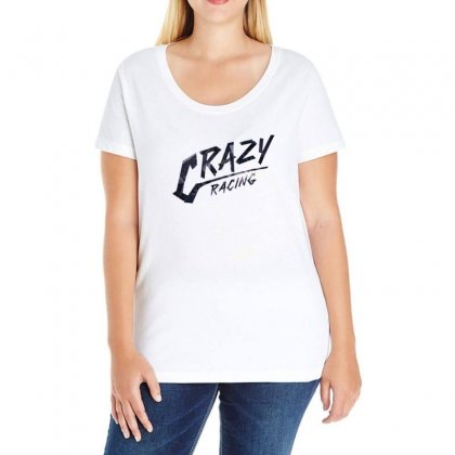 Crazy Racing Ladies Curvy T-shirt Designed By Love