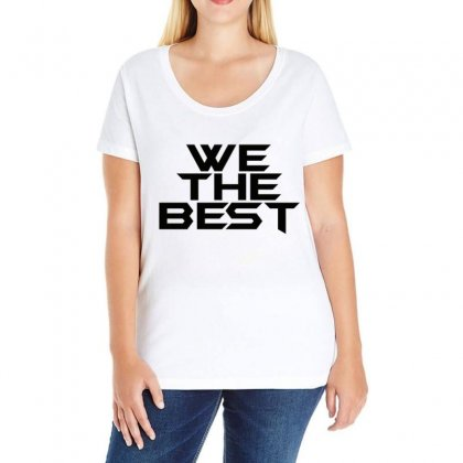 Whe The Best Ladies Curvy T-shirt Designed By Love
