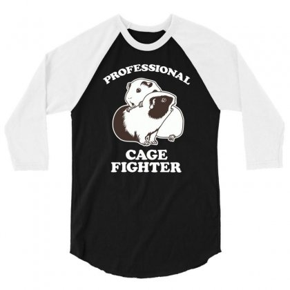 Professional Cage Fighter 3/4 Sleeve Shirt Designed By Monzart
