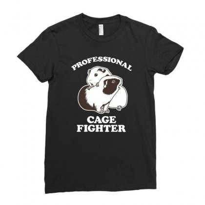 Professional Cage Fighter Ladies Fitted T-shirt Designed By Monzart