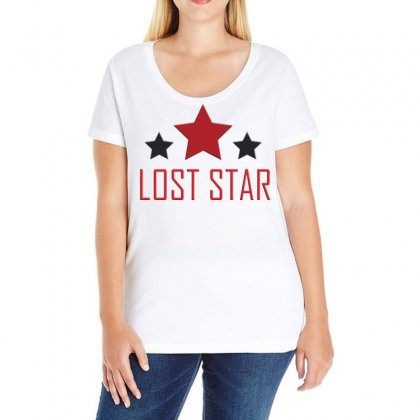 Lost Star Ladies Curvy T-shirt Designed By Love