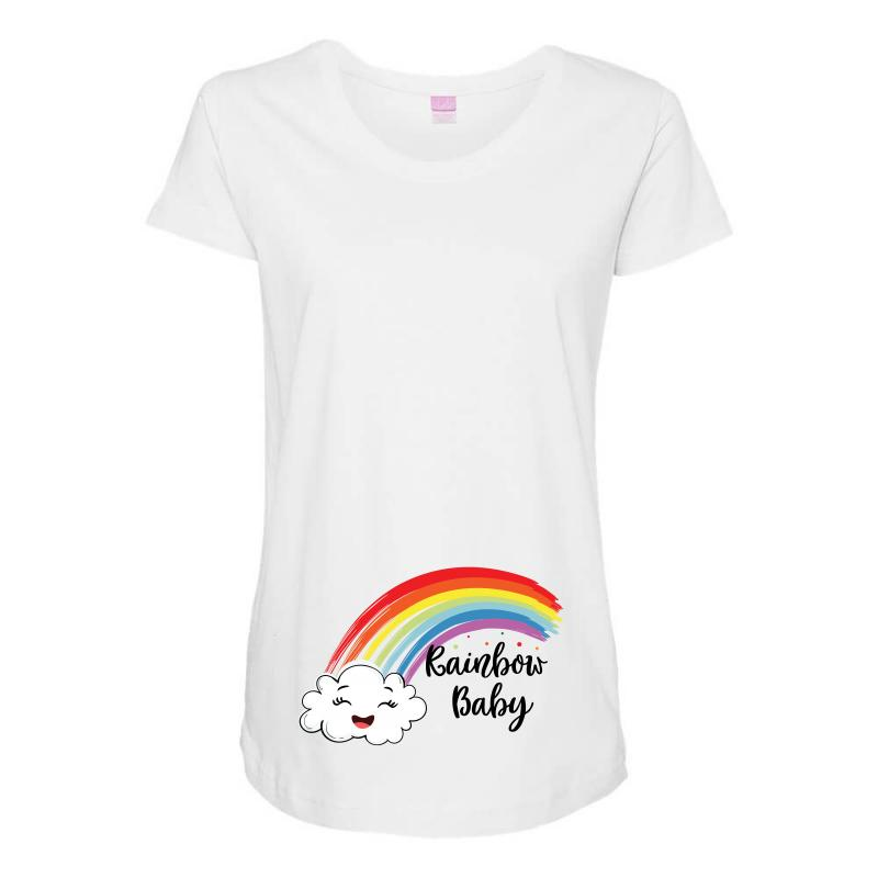5ff3f2d0b669b Rainbow Baby Maternity Scoop Neck T-shirt. By Artistshot