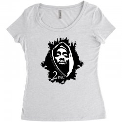 tupac (5x) Women's Triblend Scoop T-shirt | Artistshot