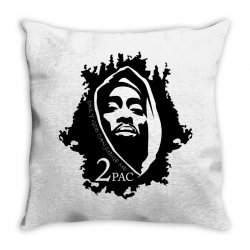 tupac (5x) Throw Pillow | Artistshot
