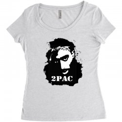 tupac (4x) Women's Triblend Scoop T-shirt | Artistshot