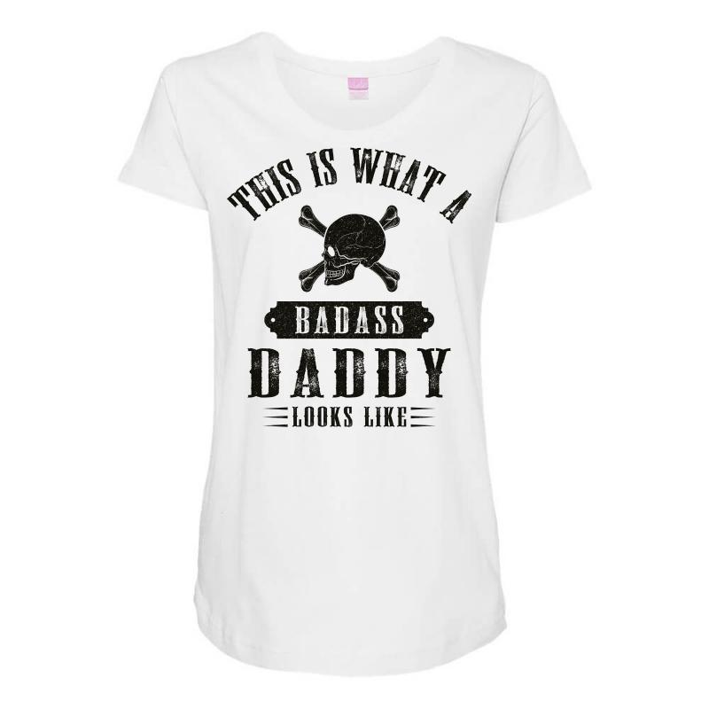 669c431e Custom This Is What A Badass Daddy Looks Like Maternity Scoop Neck T ...
