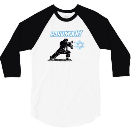 Hanukkah! 3/4 Sleeve Shirt Designed By Mash Art