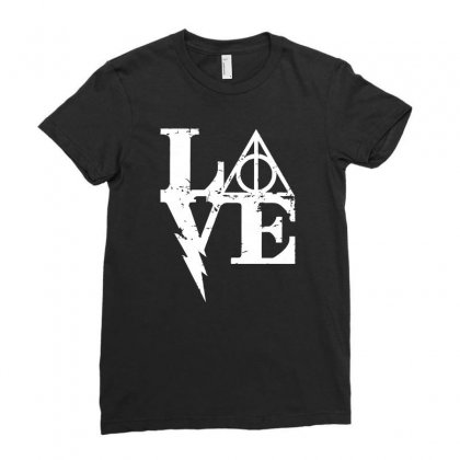 Harry Love Ladies Fitted T-shirt Designed By Mash Art