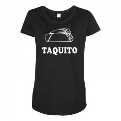 Taco and Taquito Family Matching Maternity Scoop Neck T-shirt | Artistshot