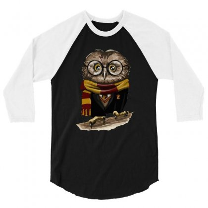 Owly Potter 3/4 Sleeve Shirt Designed By Mash Art