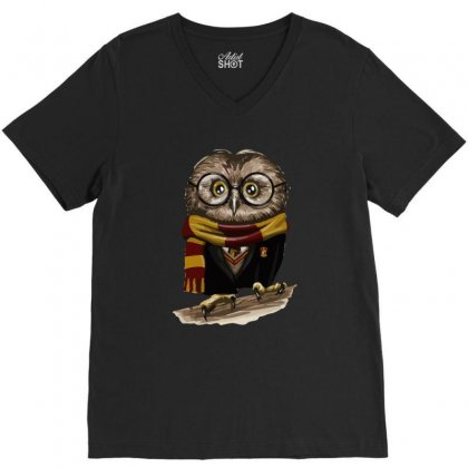 Owly Potter V-neck Tee Designed By Mash Art
