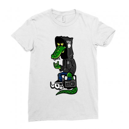 666 Ladies Fitted T-shirt Designed By Ronz Art