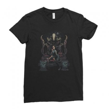 Alternative Ending Ladies Fitted T-shirt Designed By Ronz Art