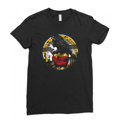Amazon Girl Ladies Fitted T-shirt Designed By Ronz Art