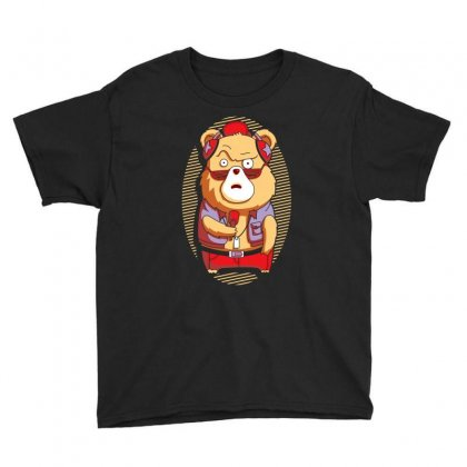 Brown Bear Youth Tee Designed By Ronz Art