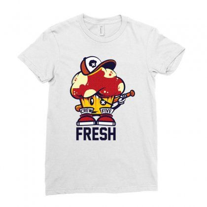 Crew Five Fresh Ladies Fitted T-shirt Designed By Ronz Art