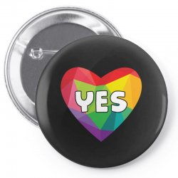 Yes Lgbt Heart Pin-back button | Artistshot
