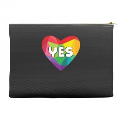 Yes Lgbt Heart Accessory Pouches | Artistshot