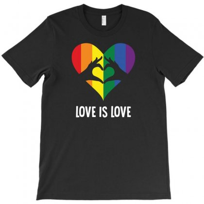 Love Is Love Heart T-shirt Designed By Bigdlab
