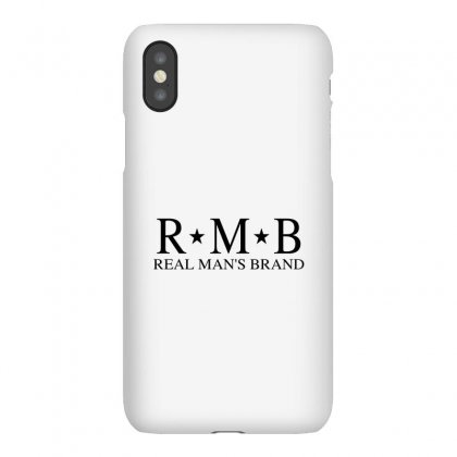 Rmb Real Man's Brand [black Logo] Iphonex Case Designed By Realmansbrand