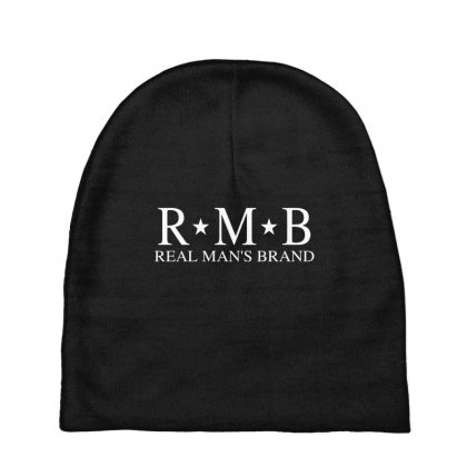 Rmb Real Man's Brand [white Logo] Baby Beanies Designed By Realmansbrand
