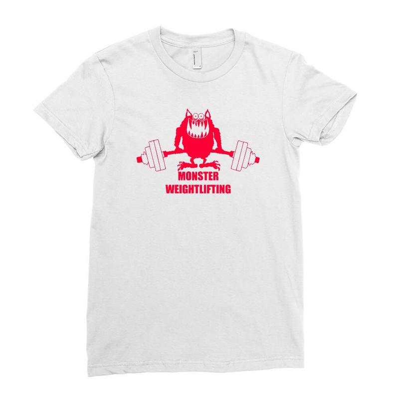 f0ffd7d1a0 Custom Monster Weightlifting Ladies Fitted T-shirt By Firstore ...