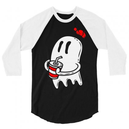 Soda Ghost 3/4 Sleeve Shirt Designed By Firstore