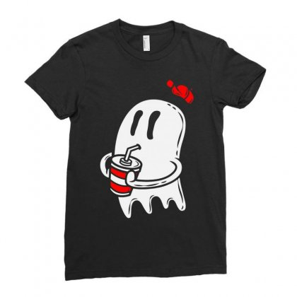 Soda Ghost Ladies Fitted T-shirt Designed By Firstore