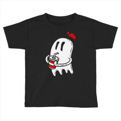 Soda Ghost Toddler T-shirt Designed By Firstore