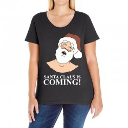 santa is coming Ladies Curvy T-Shirt | Artistshot