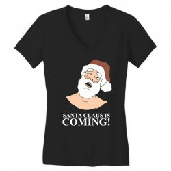 santa is coming Women's V-Neck T-Shirt | Artistshot