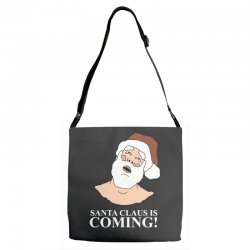 santa is coming Adjustable Strap Totes | Artistshot