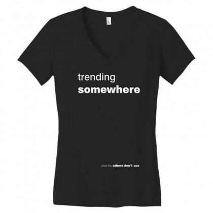 Trending Somewhere Women's V-neck T-shirt Designed By Firstore