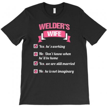 Welder's Wife T-shirt Designed By Firstore