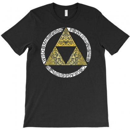 Zelda Triforce T-shirt Designed By Firstore