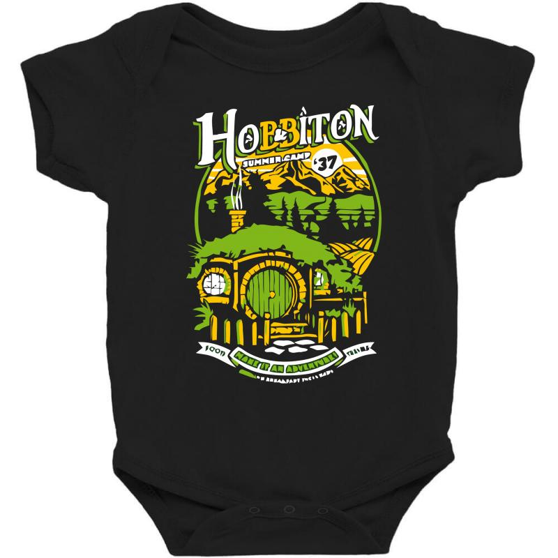 732d589f131 Custom Shire Summer Camp Baby Bodysuit By Ronz Art - Artistshot