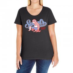 sports sloth Ladies Curvy T-Shirt | Artistshot