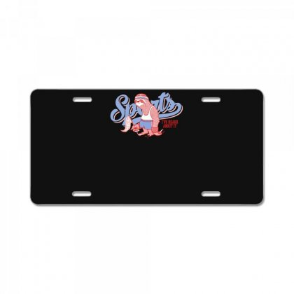 Sports Sloth License Plate Designed By Ronz Art