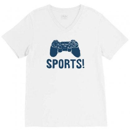 Sports V-neck Tee Designed By Ronz Art